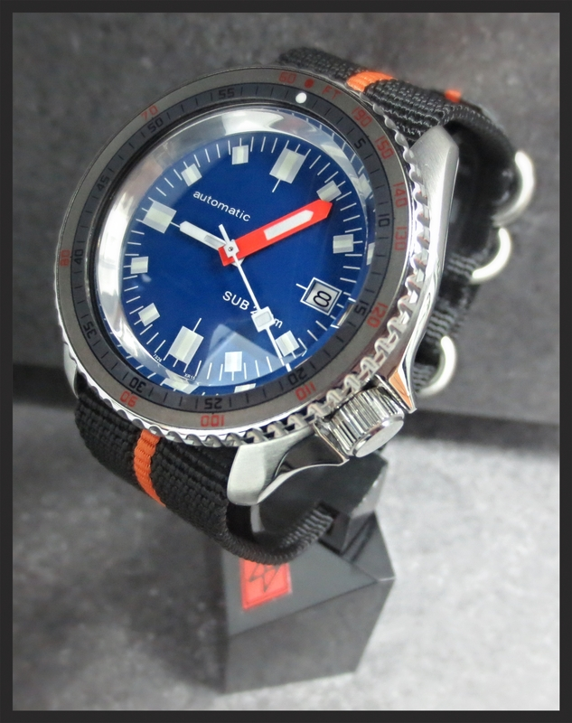 CARIBBEAN BLUE SOXA-MODIFIED SKX DOUBLE-DOMED SAPPHIRE