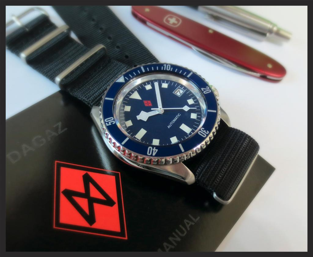 BLUE-FLAKE SKX MOD with THICK DOMED SAPPHIRE CRYSTAL