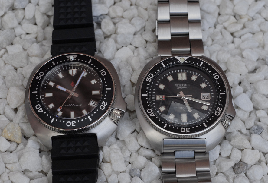 Some really great Dagaz Typhoon Classic / Seiko 6105 comparison shots. (Pix by Mark Webster)